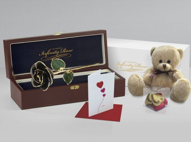 Black Rose with Premium Gift Sets - Infinity Rose