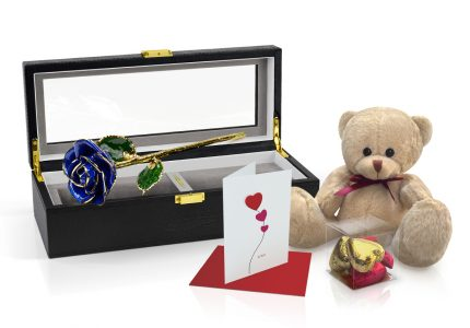 dark blue rose gift
