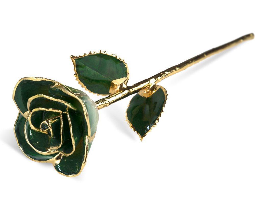 Dark Green Two Tone Rose without Premium Display Case - Infinity Rose