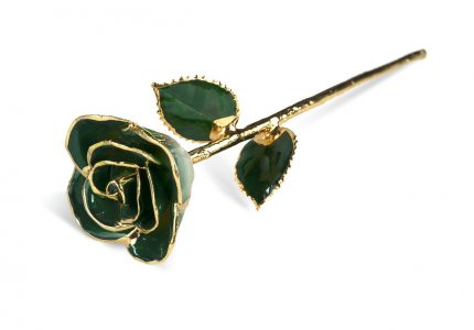 Dark Green Two Tone Rose without Premium Display Case - Infinity Rose