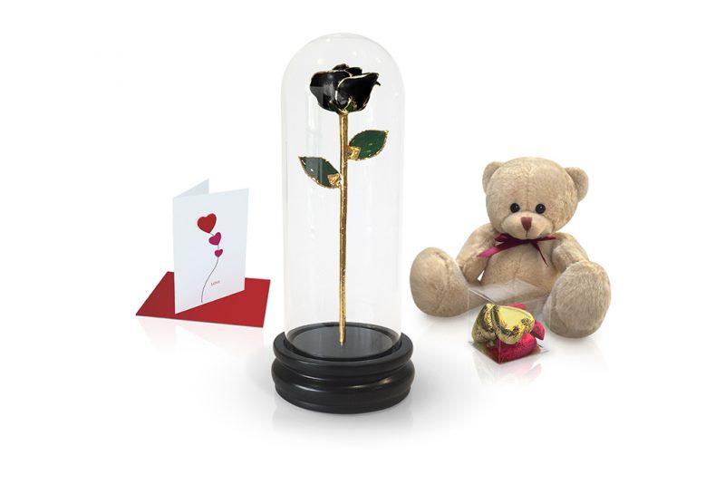 black rose dome gift