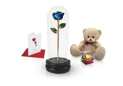 dark blue rose dome gift