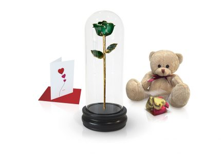 dark green rose dome gift