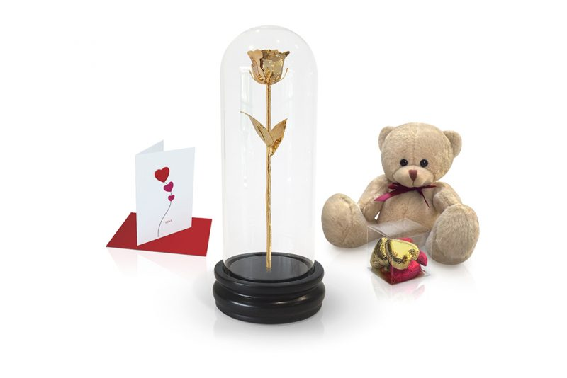 gold rose dome gift