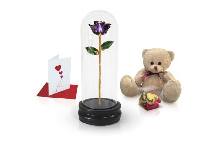 purple rose dome gift