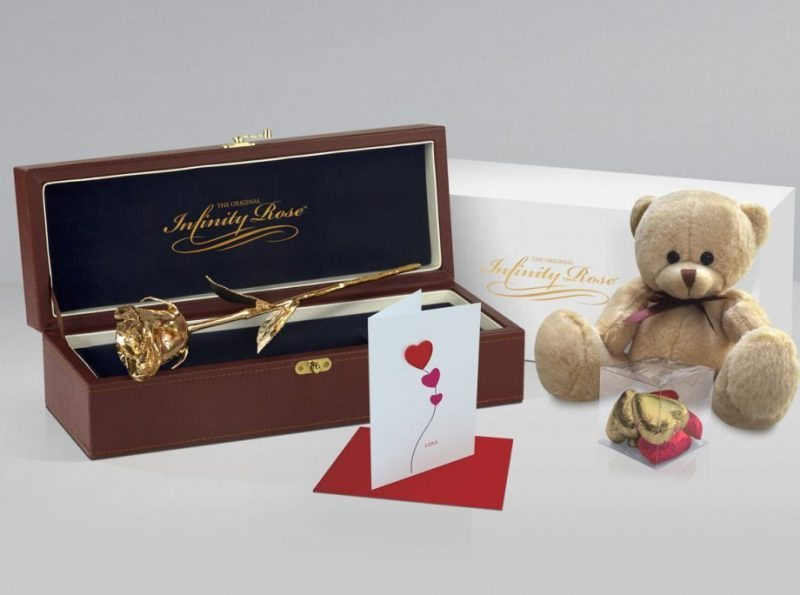 Golden Rose Gift, Gold Rose with Premium Gift Sets - Infinity Rose