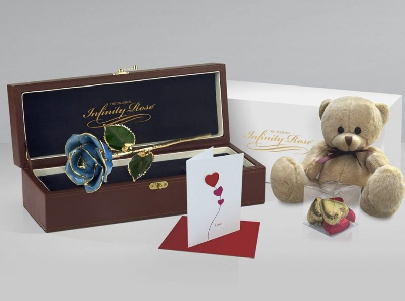 Light Blue Rose with Premium Gift Sets - Infinity Rose