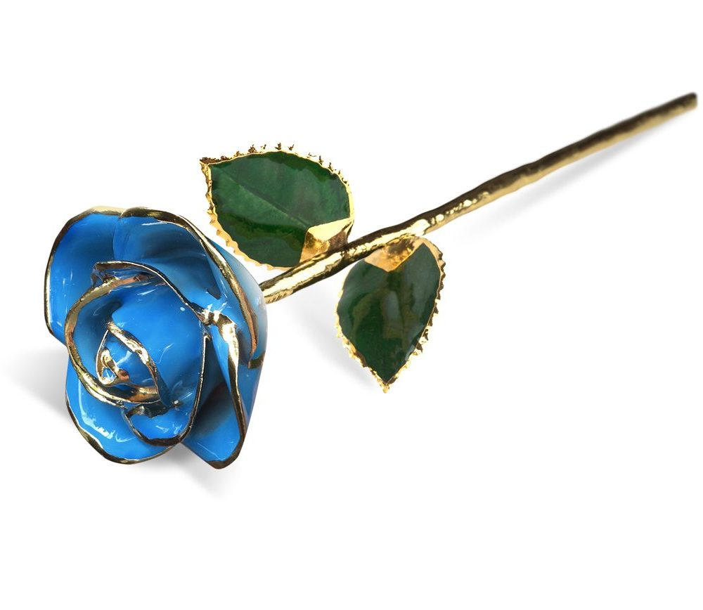 Light Blue Two Tone Rose Gift without Premium Display Case - Infinity Rose