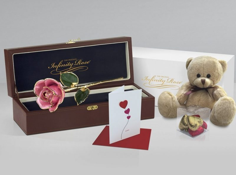 Pink Rose Gift with Premium Gift Sets - Infinity Rose