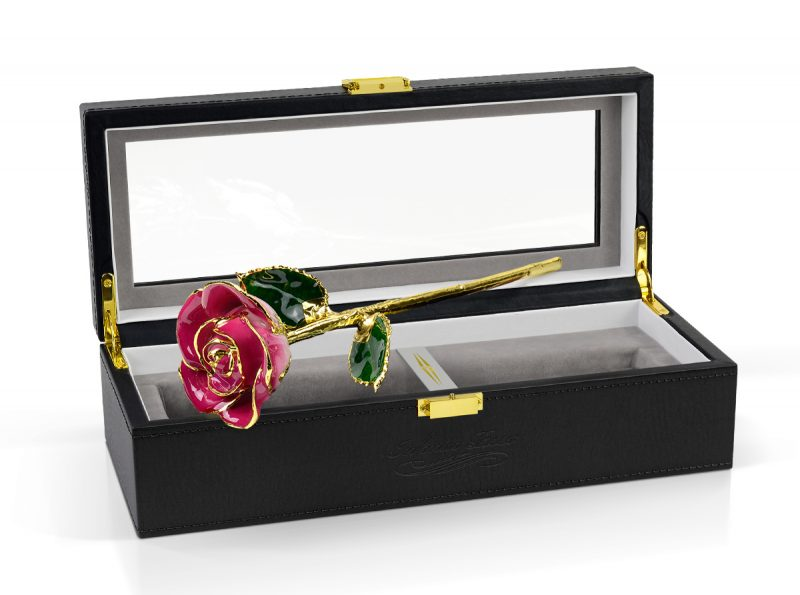 pink two tone rose gift