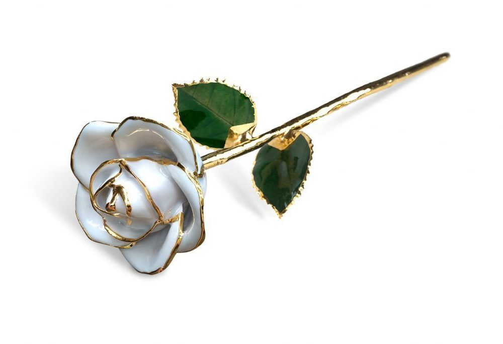 White Rose Gift without Premium Display Case - Infinity Rose