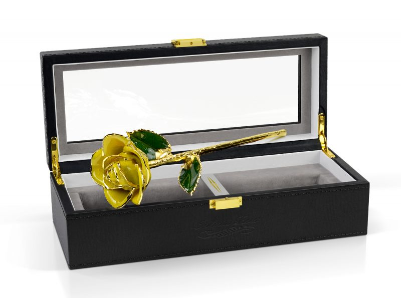 yellow two tone rose gift