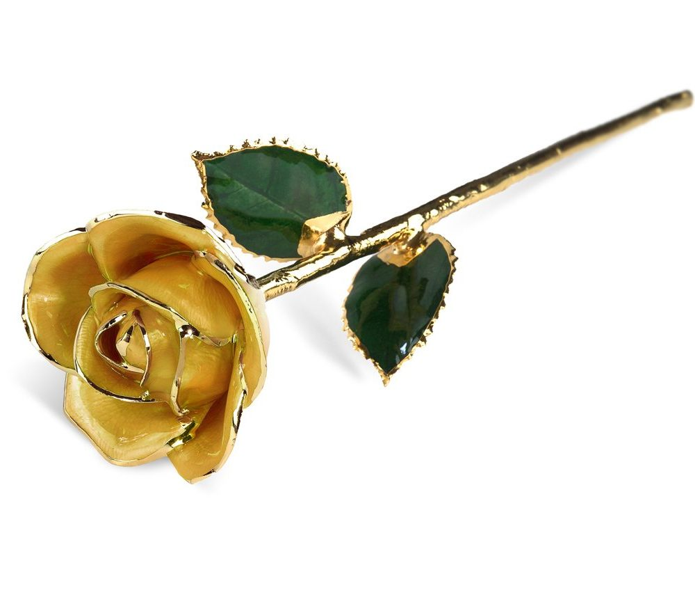 Yellow Two Tone Rose without Premium Display Case Gift Sets- Infinity Rose