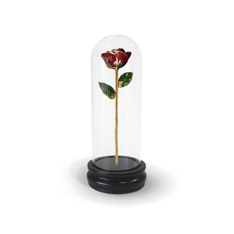 Burgundy Rose Gift with Premium Glass Dome - Infinity Rose