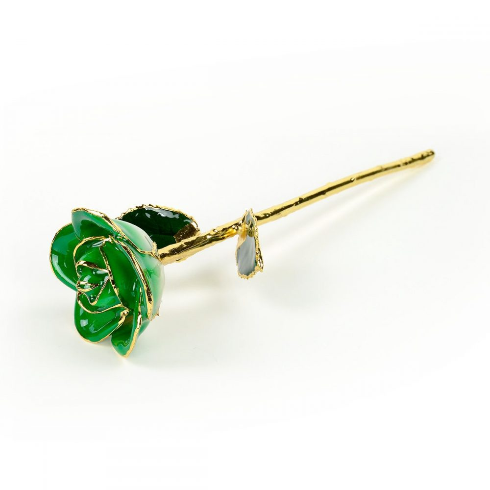 dark green two tone rose gift