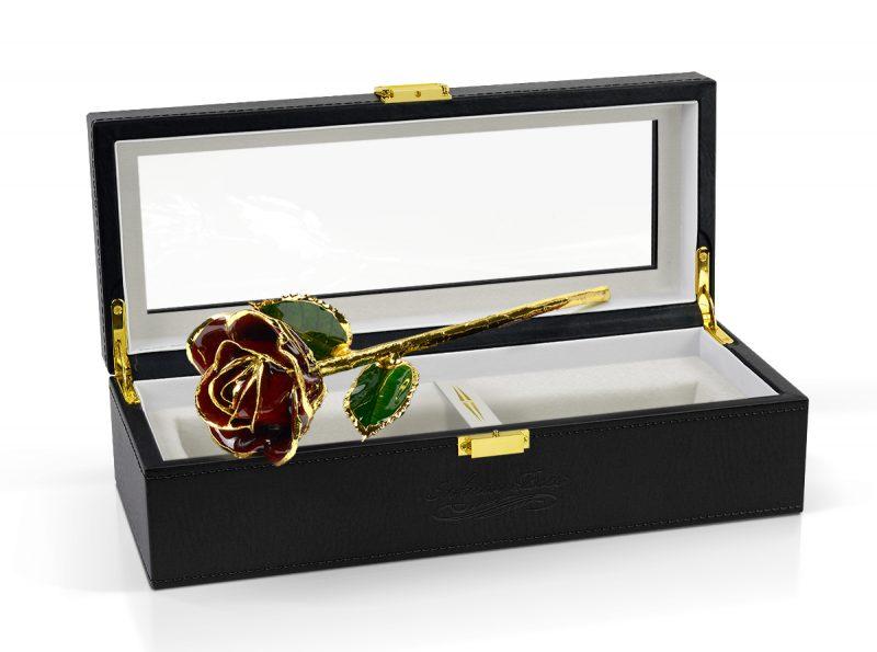 burgundy rose gift