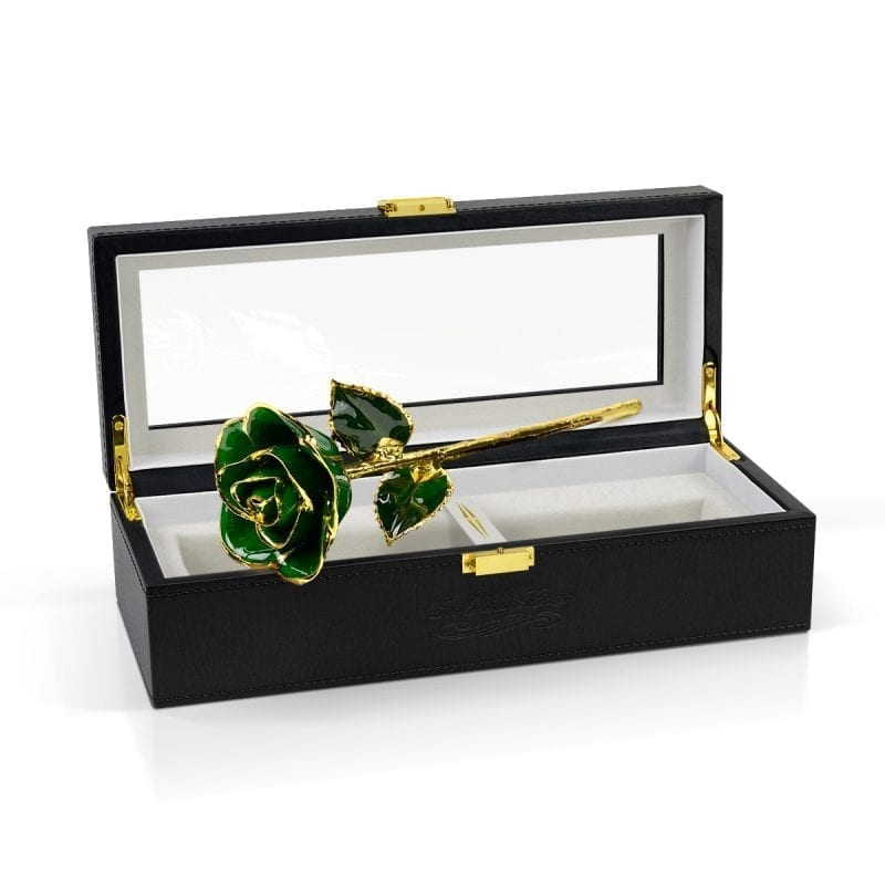 dark green rose gift
