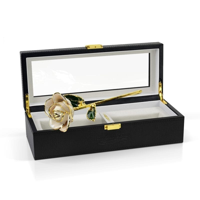 raw pearl rose gift