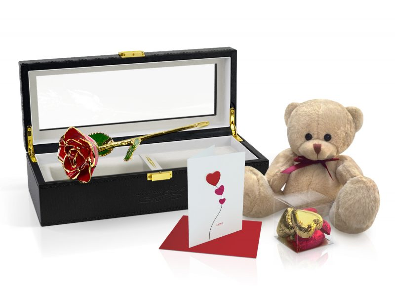 red two tone rose gift